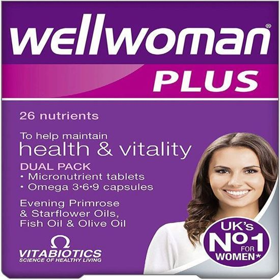 Picture of Vitabiotics Wellwoman Plus Tablets 56 Capsules