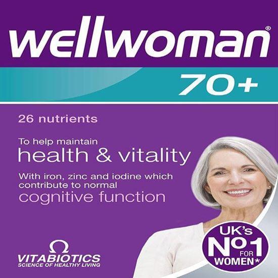 Picture of Vitabiotics Wellwoman 70+ 30 Tablets