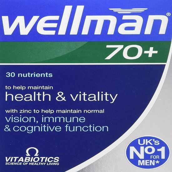 Picture of Vitabiotics Wellman 70+ 30 Tabs
