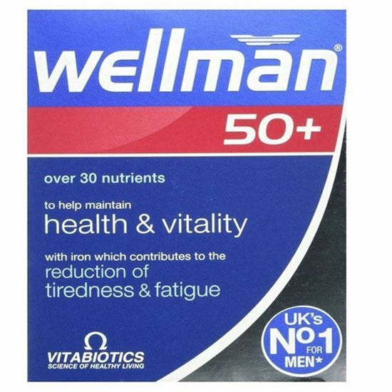 Picture of Vitabiotics Wellman 50+ Plus Advanced Vitamin and Mineral Supplement - 30 Tablets