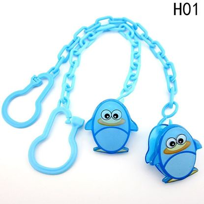 Picture of New Baby Pacifier Clip Pacifier Chain Dummy Clip Nipple Holder For Nipples Chupetas Para Children Pacifier Clips Soother Holder Blue Fish