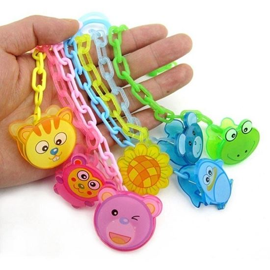 Picture of New Baby Pacifier Clip Pacifier Chain Dummy Clip Nipple Holder For Nipples Chupetas Para Children Pacifier Clips Soother Holder Blue cat