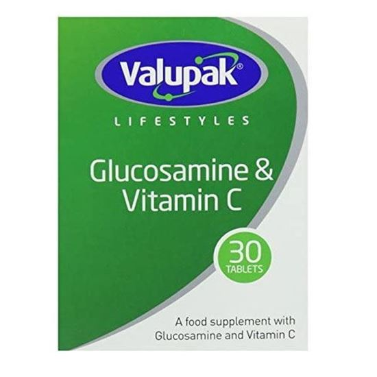 Picture of Valupak Supplements Joint Care High Strength Glucosamine Sulphate Tablets 1500mg 30 Tablets