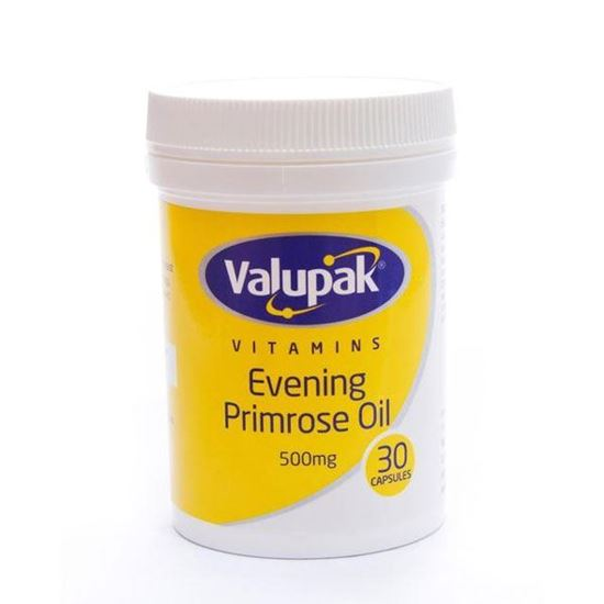 Picture of Valupak Vitamins Evening Primrose Oil 500mg 30 Capsules