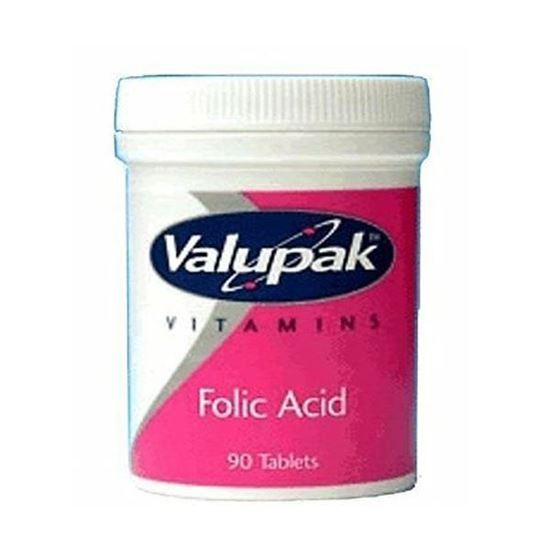 Picture of Valupak Vitamins Supplements Folic Acid 400mcg 90 Tablets