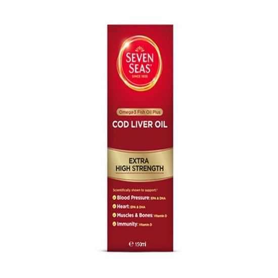 Picture of Seven Seas Pure Cod Liver Oil Extra High Strength 150ml