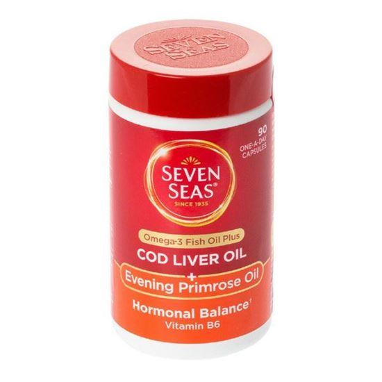 Picture of Seven seas pure cod liver oil range + evening primrose oil capsules 90 pack