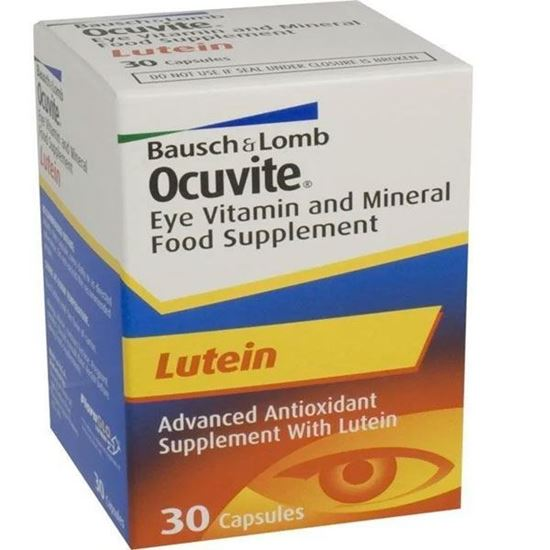 Picture of Ocuvite Eye Vitamin Mineral Food Supplement Lutein 30 Capsules