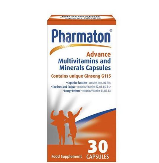 Picture of Pharmaton Advance Multivitamin and Mineral 30 Capsules