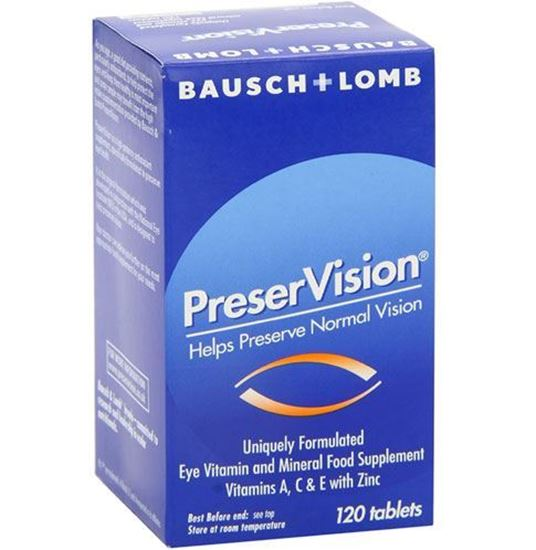 Picture of Baush&Lomb Preser Vision Multivitamin & Mineral 120 Tablets.