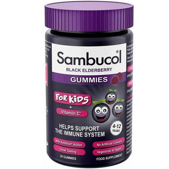 Picture of Sambucol Kids Gummies | Vitamin C | Immune Support Supplement | 30