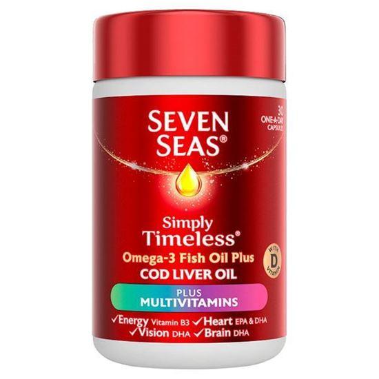 Picture of Seven Seas Cod Liver Oil and Multi Vitamins 30 Capsules