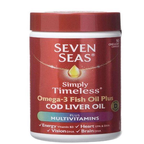 Picture of Seven Seas Cod Liver Oil and Multi Vitamins 90 Capsules