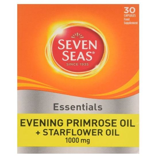 Picture of Seven Seas Evening Primrose Once A Day Plus Starflower Oil 1000mg 30 Capsules