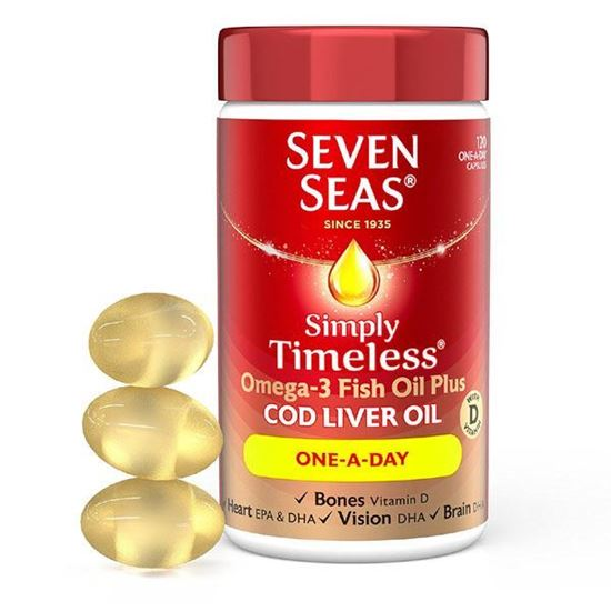 Picture of Seven Seas One A Day Pure Cod Liver Oil 120 capsules