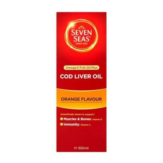 Picture of Seven Seas Orange Syrup and Cod Liver Oil 300ml
