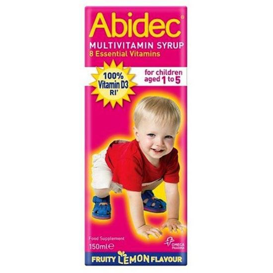 Picture of Abidec Multivitamin Syrup for Children Fruit Lemon & Raspberry Flavour 150ml