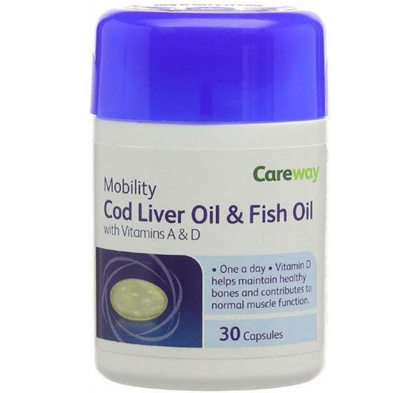 Picture of Careway 500 mg Cod Liver Oil 30 Capsules