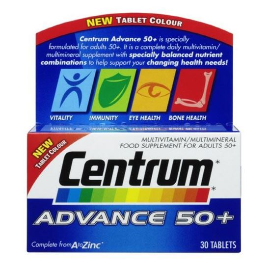 Picture of Centrum Advance 50+ Multivitamin & Mineral Tablets 30