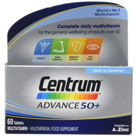 Picture of Centrum Advance 50 Plus Complete A-Z Multivitamins & Minerals, 60 Tablets