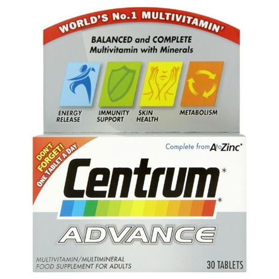 Picture of Centrum Advance Multivitamins 30 Tablets