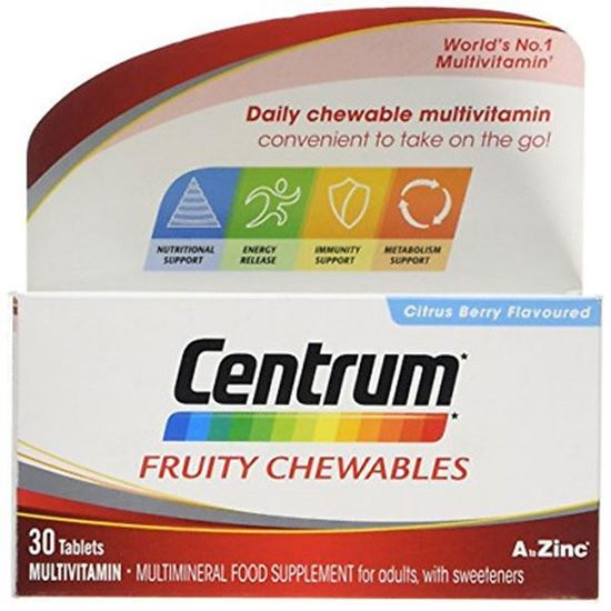 Picture of Centrum Fruity Chewables Tablets Pack of 30