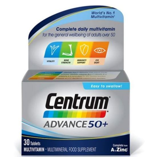 Picture of Centrum Men 50+ 30 Tablets