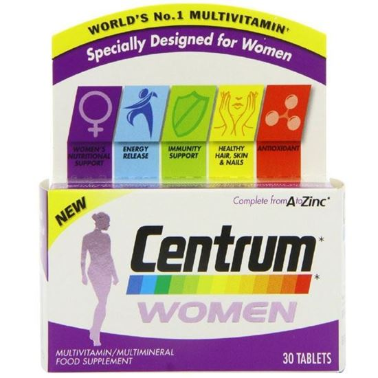 Picture of Centrum Multivitamin Women Tablets - Pack of 30