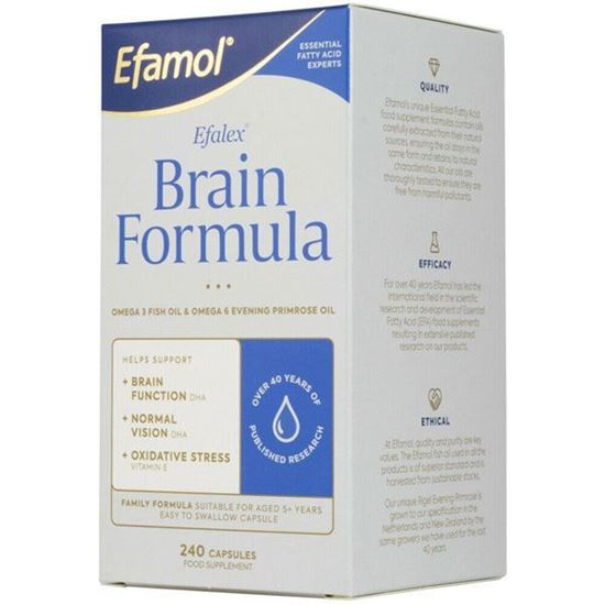 Picture of Efamol Brain Efalex Brain Formula with Omega 3 & 6 - 240 capsules