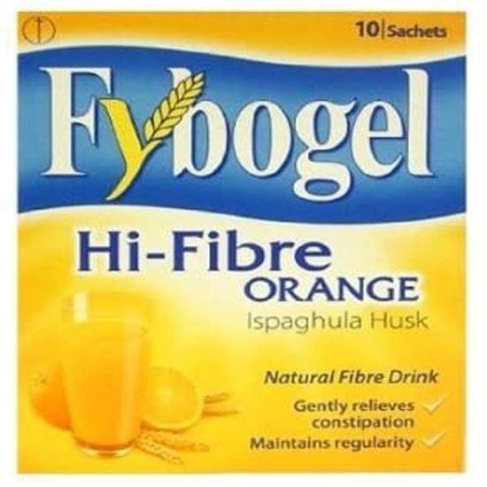 Picture of Fybogel Hi-Fibre Orange Sachets, 10 Sachets