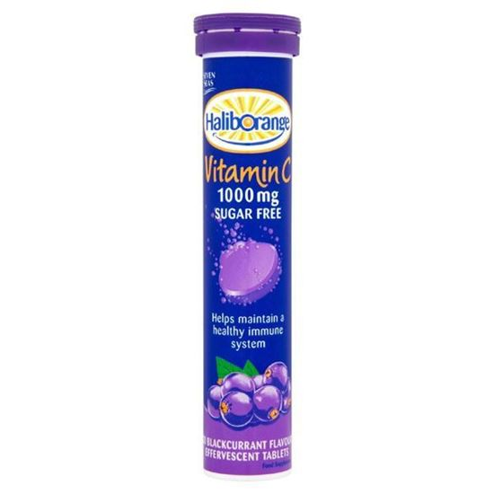 Picture of Seven Seas Haliborange Effervescent Vitamin C Blackcurrant 20 x 1000mg Tablets