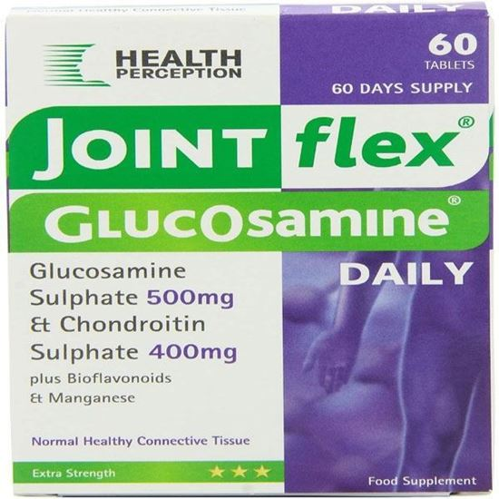 Picture of Joint flex daily Glucosamine Sulphate 500mg with Chondroitin 60 Tabs