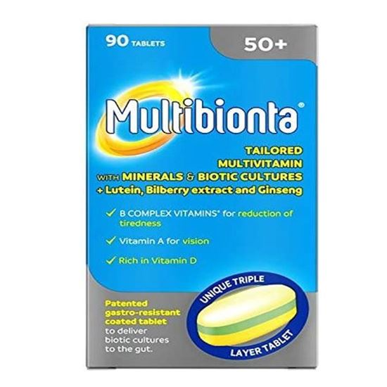 Picture of Multibionta 50+ Tablets - 90 Tablets