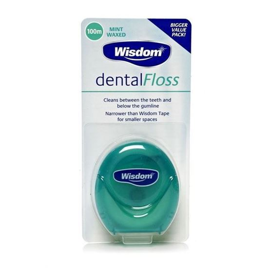 Picture of Wisdom Dental Floss Mint Waxed 100m