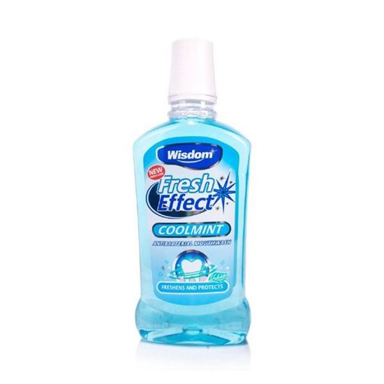 Picture of Wisdom 500ml Fresh Effect Coolmint Antibacterial Mouthwash