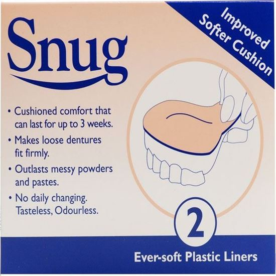 Picture of Snug Denture Cushions With Ever Soft Plastic Liner - 2 Improved Softer Cushions by Snug