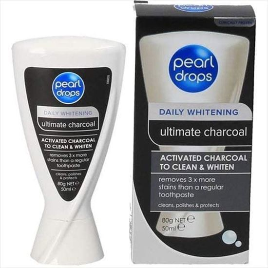 Picture of Pearl Drops Activated Charcoal Teeth Whitening Toothpaste 50ml