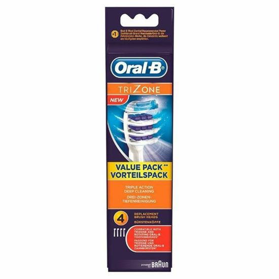 Picture of Oral-B Trizone Replacement Toothbrush Head - 4 Heads Brand New Sealed
