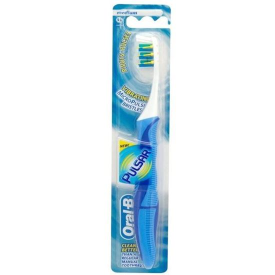 Picture of Oral-B Pulsar Adult 35 Medium Manual Toothbrush (Colour May Very )