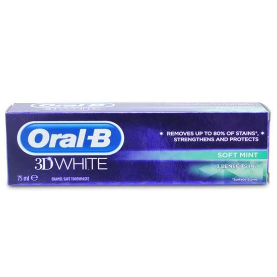 Picture of Oral-B 3D White Soft Mint Toothpaste 75ml