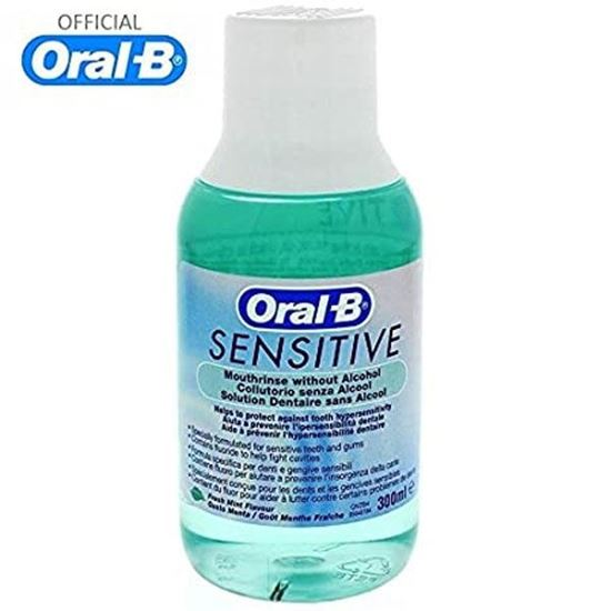 Picture of Oral-b Sensitive Mint Mouth Rinse Mouthwash Without Alcohol 300ml