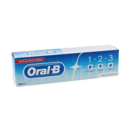 Picture of Oral B 1-2-3 Toothpaste 100Ml Delicate White