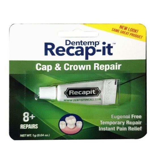 Picture of Dentemp Recapit No Mix Cement Loose Caps And Crowns 1g