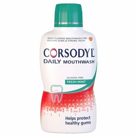 Picture of Corsodyl Daily FRESH MINT alcohol free Mouthwash 500ml