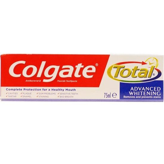 Picture of Colgate Total 75ml Advanced Whitening Antibacterial and Fluoride Toothpaste