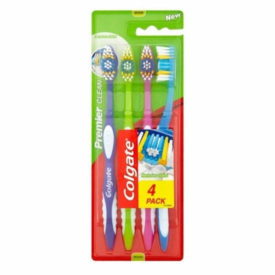 Picture of Colgate Toothbrush Extra Clean -Medium Bristles Soft Grip 4 pack