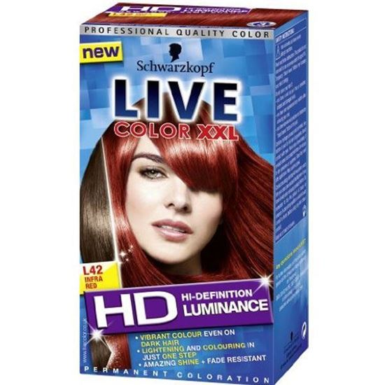 Picture of Live luminance permanent hair colourant infra red (42)