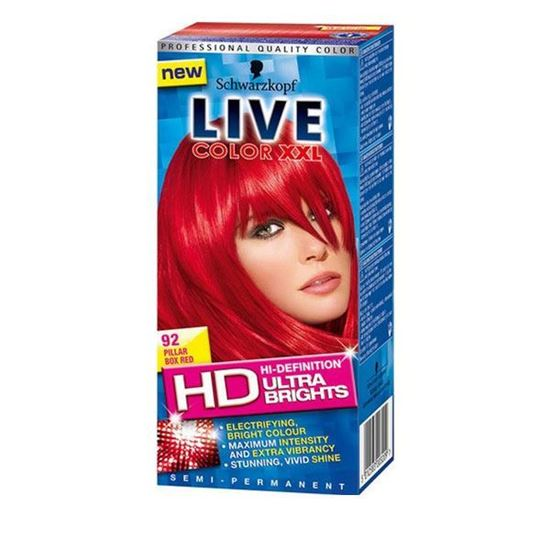 Picture of Schwarzkopf Live Color XXL Ultra Brights 92 Pillar Box Red Semi-Permanent Red Hair Dye