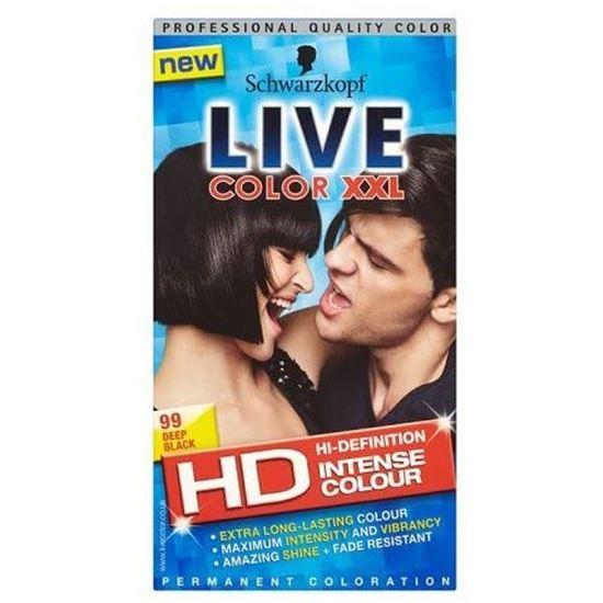 Picture of Schwarzkopf Live Color 99 Deep Black Hair Colour