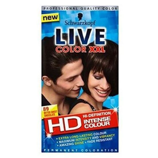 Picture of Schwarzkopf LIVE Color XXL HD 89 Bitter Sweet Chocolate Permanent Brown Hair Dye
